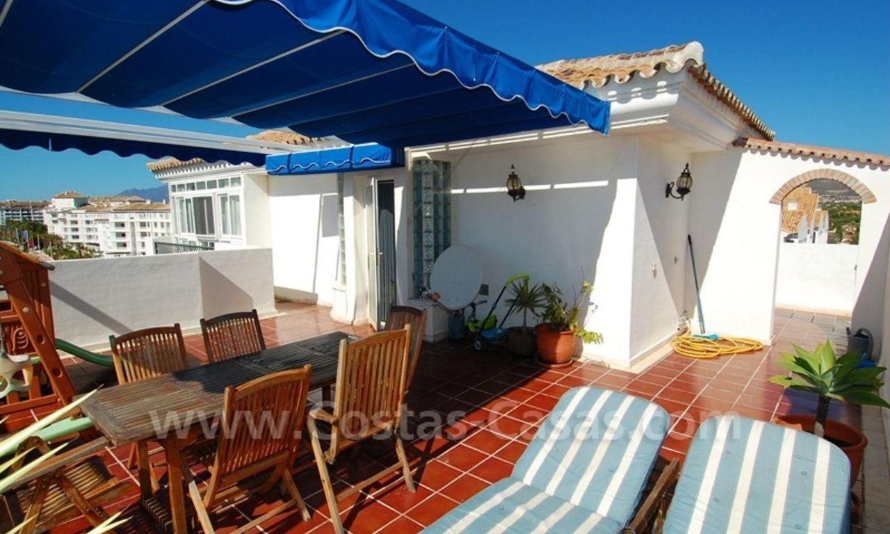 Penthouse apartment for sale in central Puerto Banus, Marbella 3