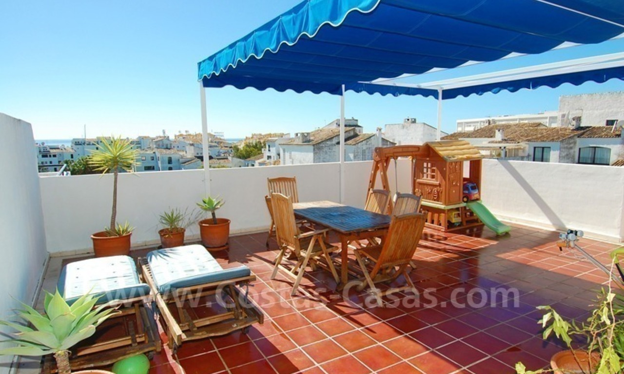 Penthouse apartment for sale in central Puerto Banus, Marbella 2