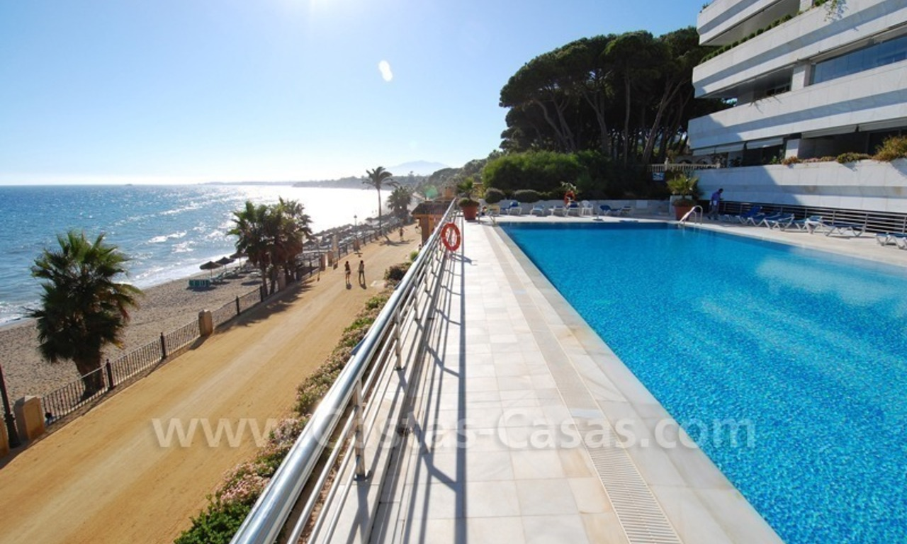 Luxury apartments for sale, frontline beach complex, Golden Mile near central Marbella 1