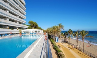 Luxury apartments for sale, frontline beach complex, Golden Mile near central Marbella 0