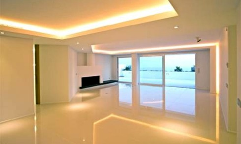 Frontline beach luxury modern penthouse for sale in Marbella