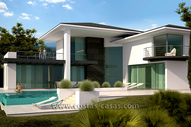 Modern villa for sale in Marbella by Costas & Casas
