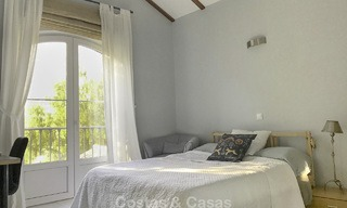 Cozy semi-detached villa for sale on first line golf in Marbella West 14112