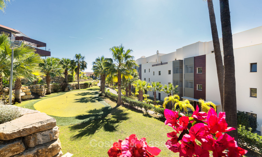 Modern Apartments for sale at 5-Star Golf Resort, New Golden Mile, Marbella - Benahavís. Last units, up to 36% off! 17881
