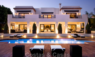 Impressive contemporary luxury villa with guest apartment for sale in the Golf Valley of Nueva Andalucia, Marbella 22603