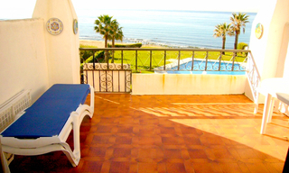 Bargain: Beachfront penthouse apartment for sale, on the border between Marbella and Mijas at the Costa del Sol. 1