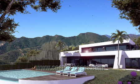 Modern New Villa For Sale in Marbella with panoramic sea view 4455