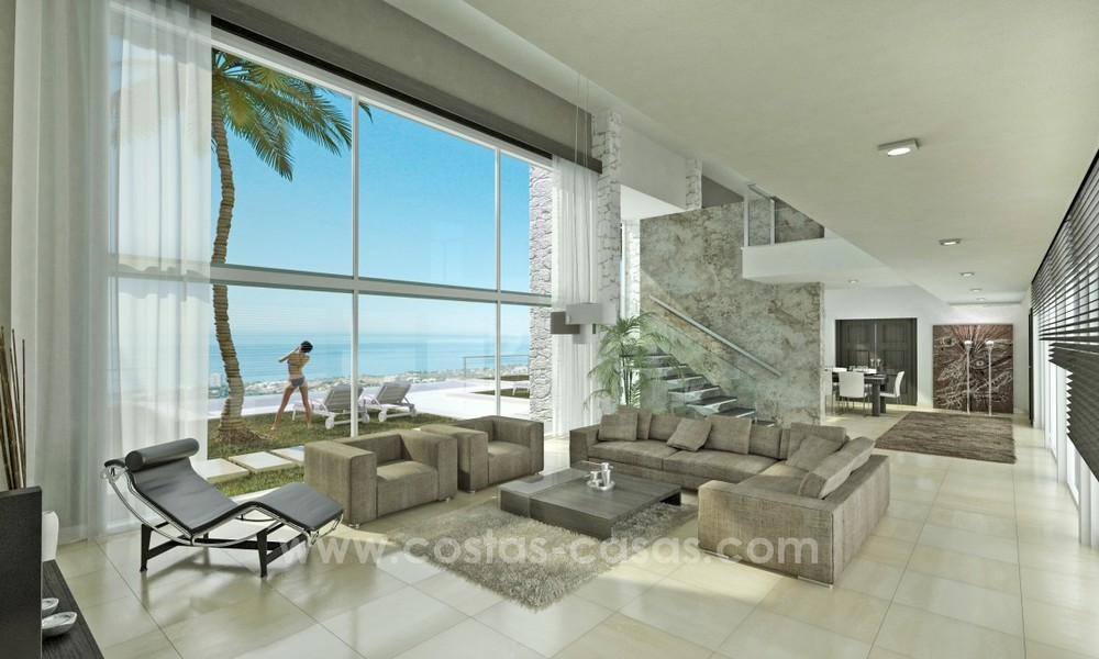 Modern New Villa For Sale in Marbella with panoramic sea view 4456