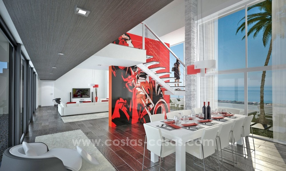 Modern New Villa For Sale in Marbella with panoramic sea view 4458