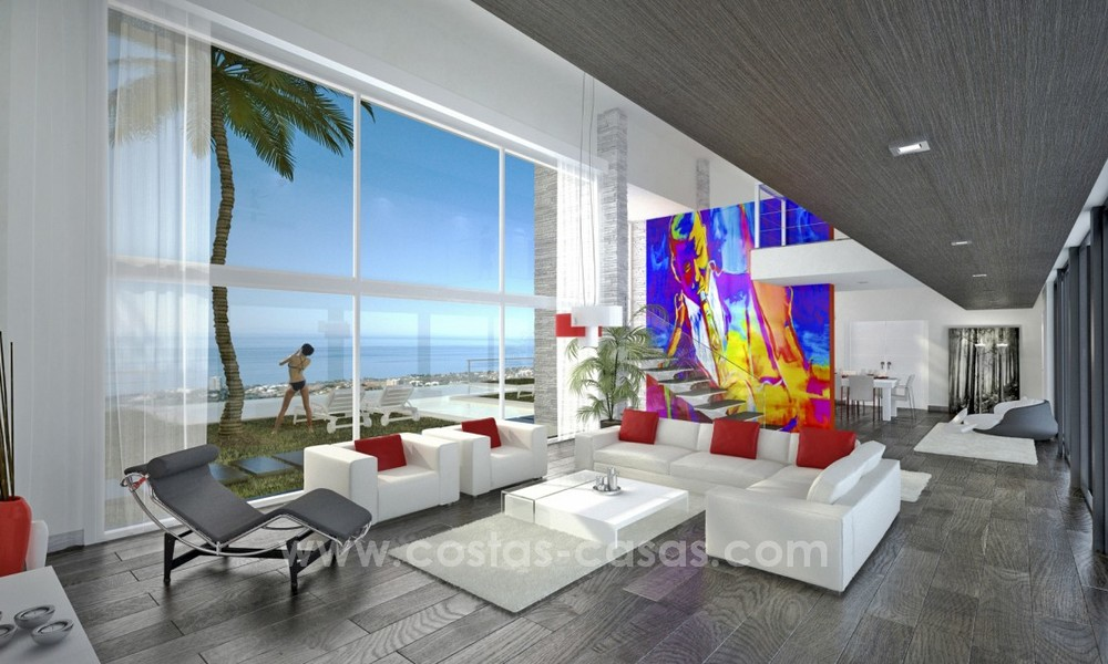 Modern New Villa For Sale in Marbella with panoramic sea view 4459