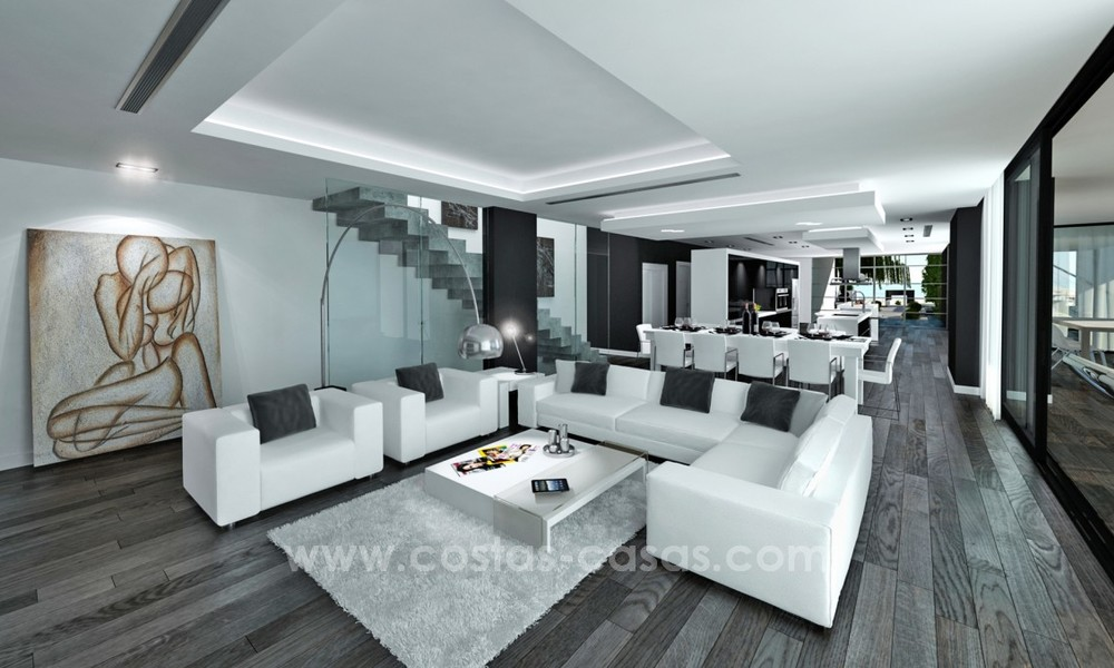Modern New Villa For Sale in Marbella with panoramic sea view 4460
