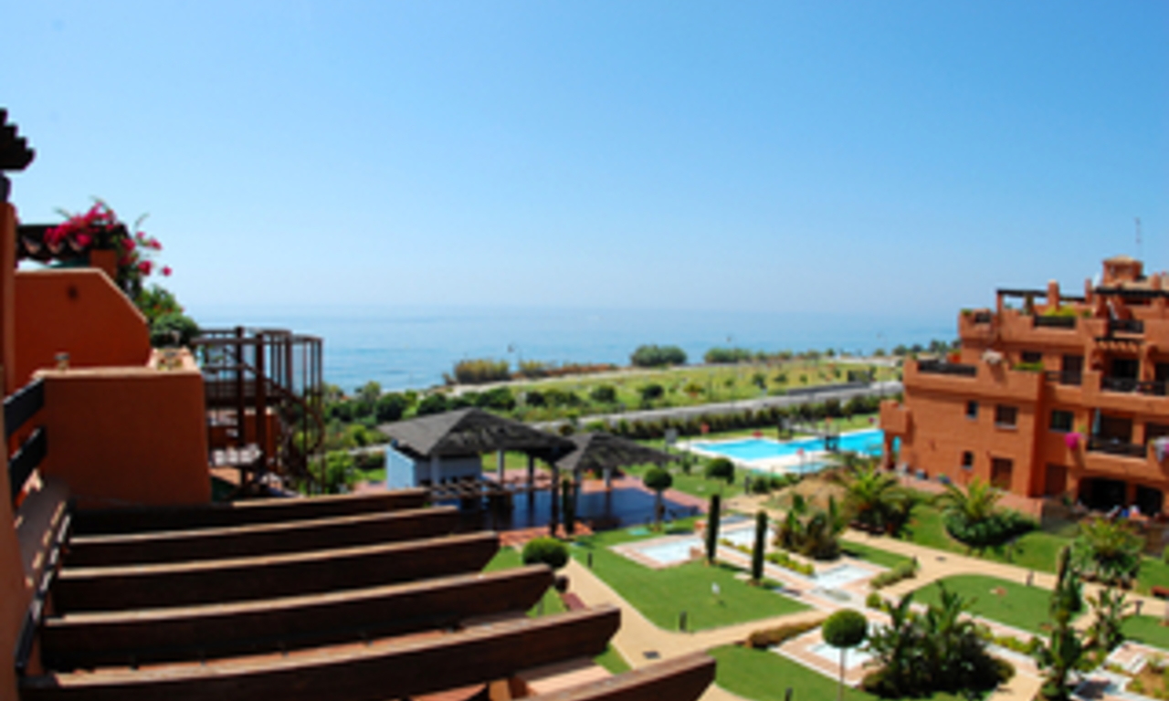 Beachfront apartments and penthouse for sale, Estepona, Costa del Sol 1