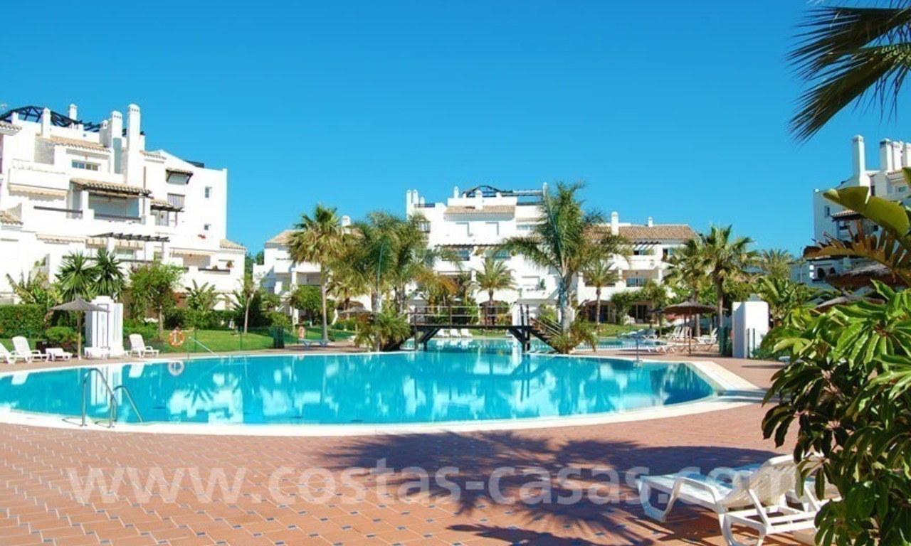 First line beach apartment for sale in Frontline beach gated complex at San Pedro te Marbella 2