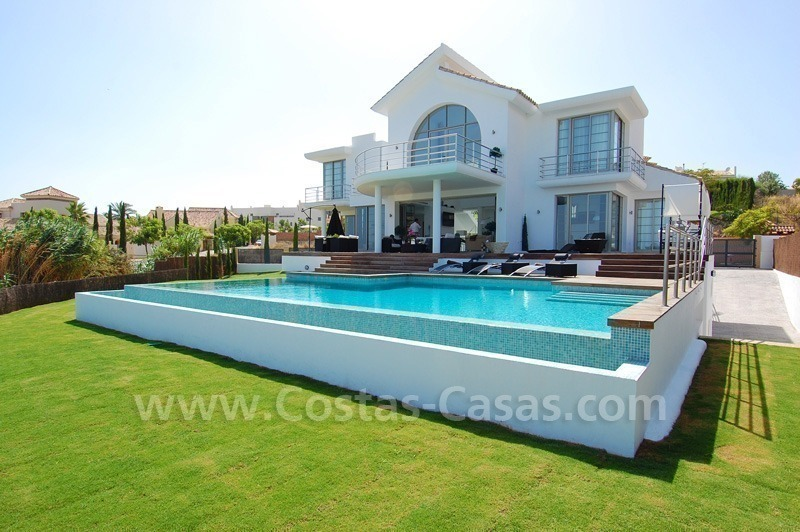Distressed sale - Modern style villa for sale in a gated golf resort between Marbella, Benahavis and Estepona