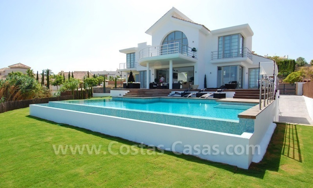 Distressed sale - Modern style villa for sale in a gated golf resort between Marbella, Benahavis and Estepona 0