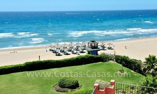 Exclusive beachfront penthouse apartment for sale frontline beach of Los Monteros in Marbella 2