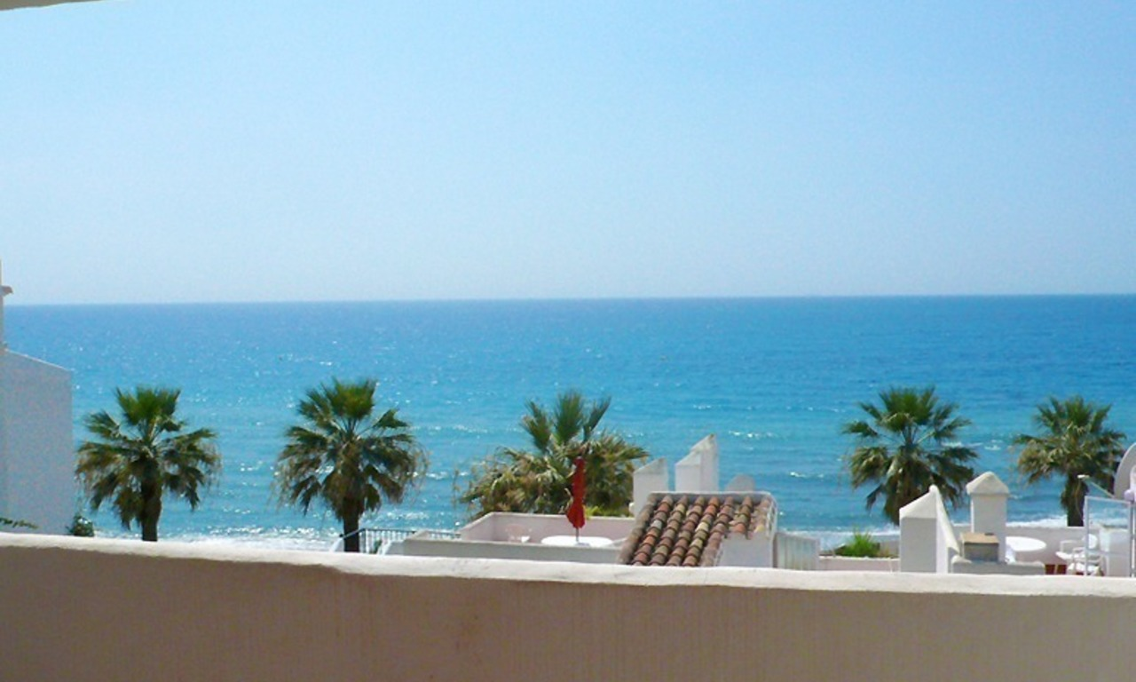 Frontline beach apartment for sale in Mijas, Costa del Sol 0