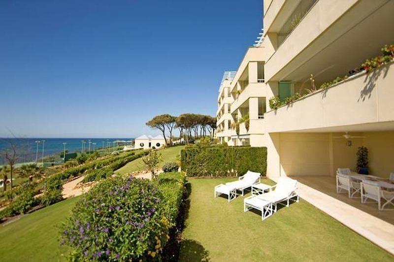 Frontline Beach Garden Apartment For Sale Cabopino Marbella