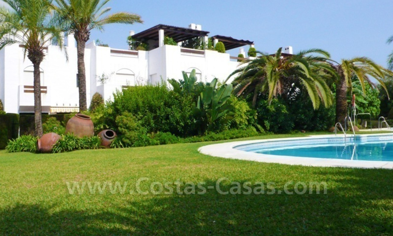 Beachside townhouse for sale in Marbella 1
