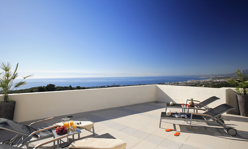 Luxury modern apartments for sale in Marbella with spectacular sea views