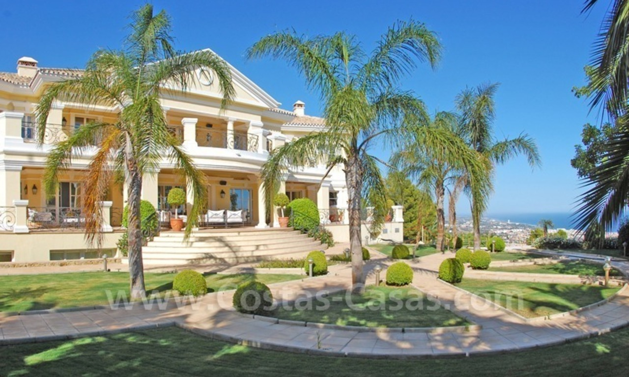 Exclusive villa for sale in Sierra Blanca at the Golden Mile in Marbella 1