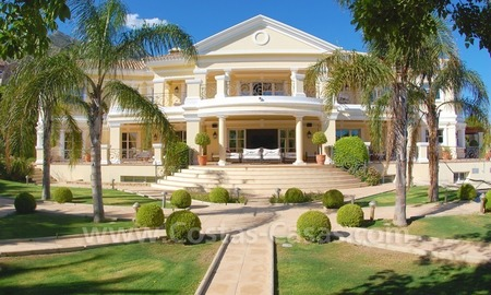 Exclusive villa for sale in Sierra Blanca at the Golden Mile in Marbella 0