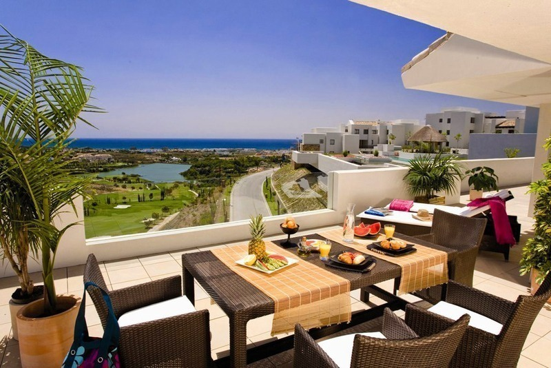 Modern frontline golf apartments for sale Marbella Benahavis