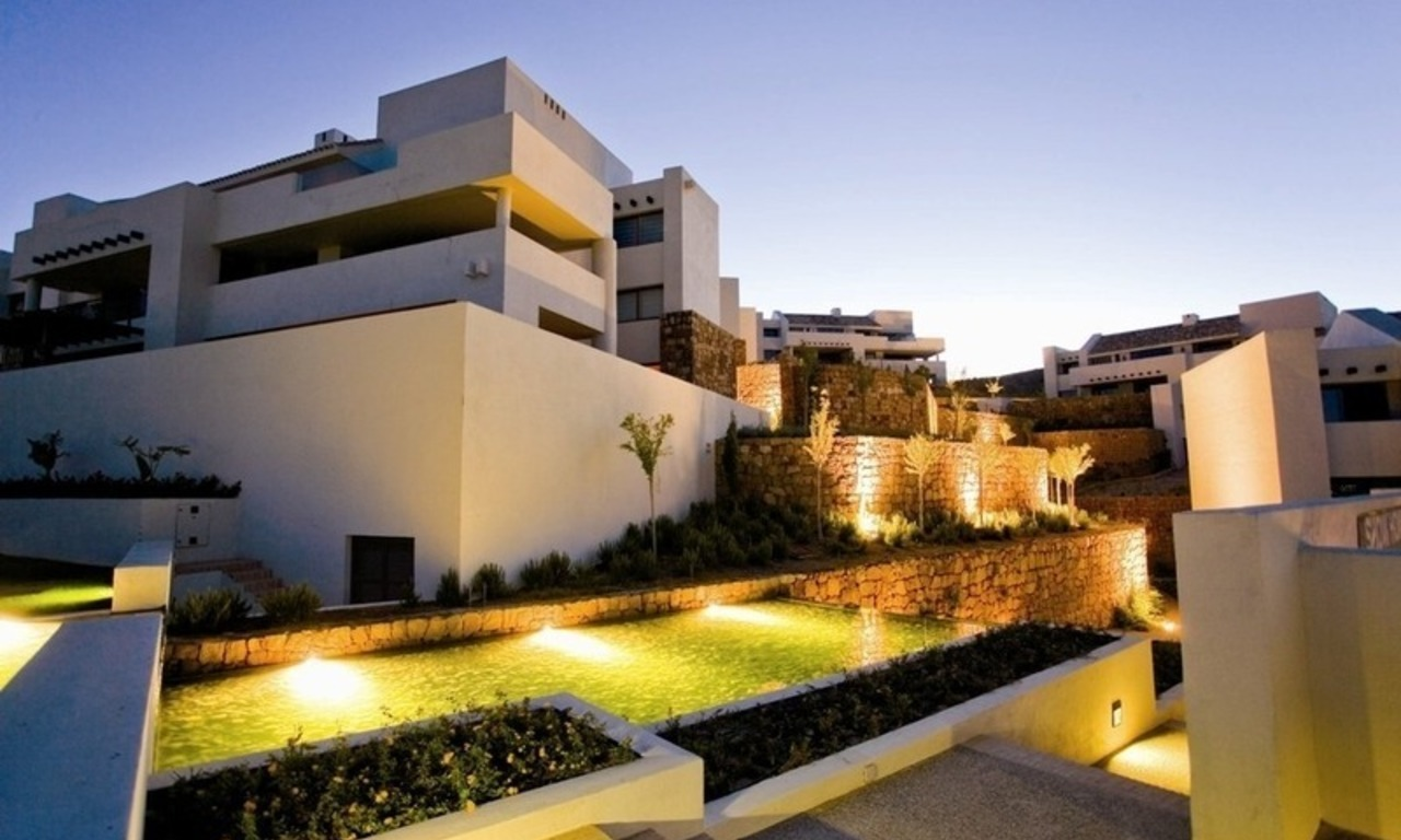 Modern frontline golf apartments for sale Marbella Benahavis 4