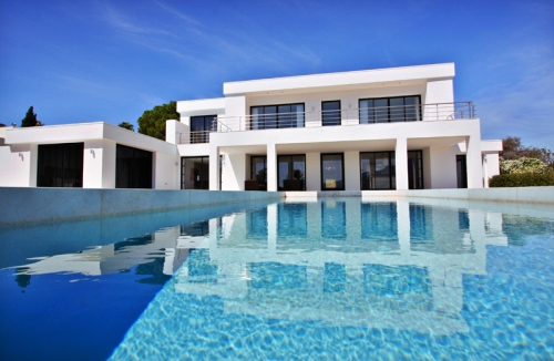 Frontline golf, contemporary villa for sale at Nueva Andalucia - Marbella 1
