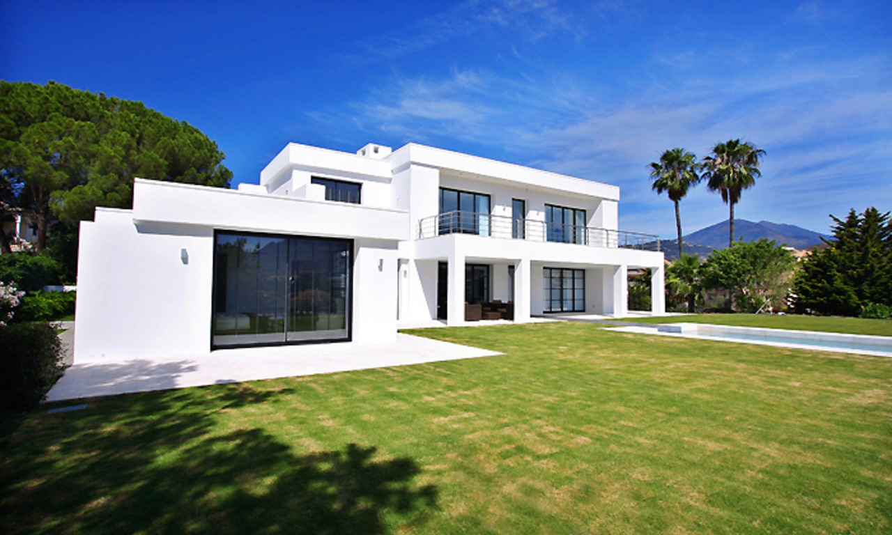 Frontline golf, contemporary villa for sale at Nueva Andalucia - Marbella 0