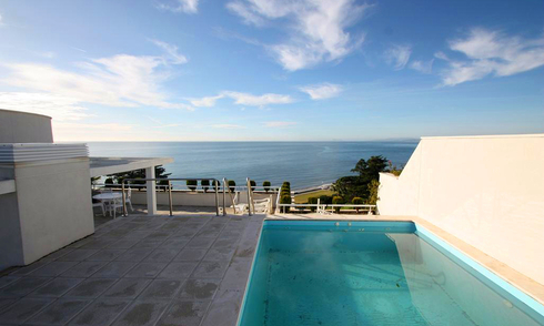 Estepona New Golden Mile for sale: beachfront penthouse