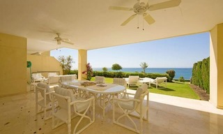Frontline beach garden apartment for sale in Cabopino, Marbella 0