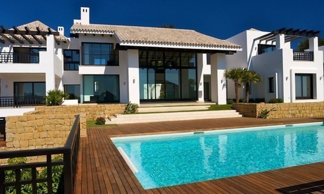 Newly built modern villa for sale, exclusive golf resort, Benahavis - Marbella 4