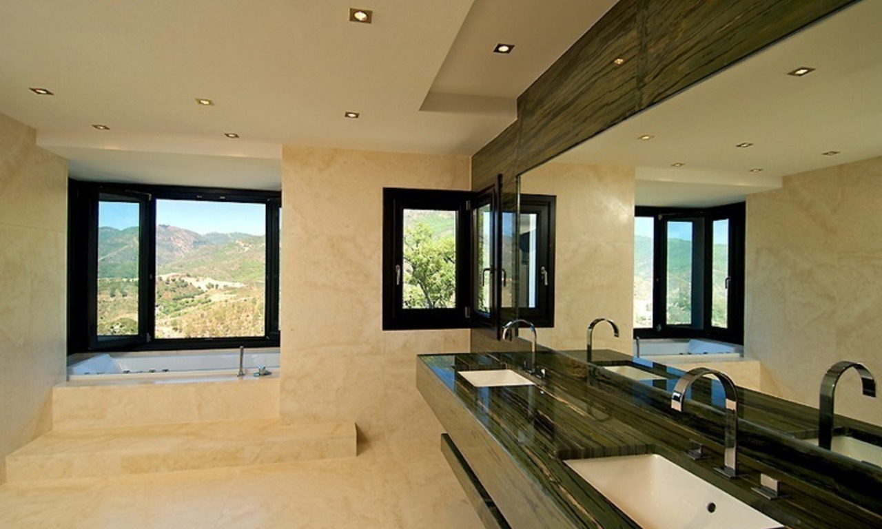 Newly built modern villa for sale, exclusive golf resort, Benahavis - Marbella 13