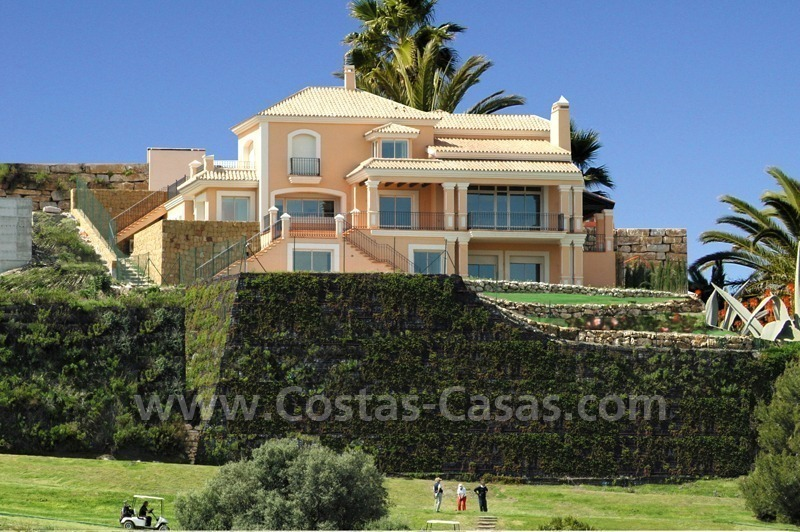 Luxury front line golf villa for sale in Marbella - Benahavis with spectacular views to the sea, golf and mountains