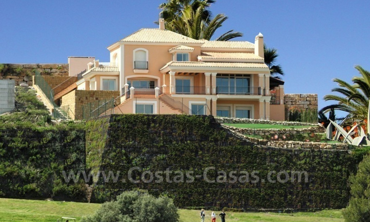 Luxury front line golf villa for sale in Marbella - Benahavis with spectacular views to the sea, golf and mountains 0