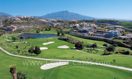 Luxury front line golf villa for sale in Marbella - Benahavis with spectacular views to the sea, golf and mountains 3