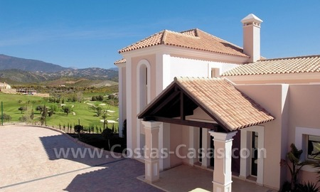 Luxury front line golf villa for sale in Marbella - Benahavis with spectacular views to the sea, golf and mountains 1