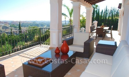 Luxury front line golf villa for sale in Marbella - Benahavis with spectacular views to the sea, golf and mountains 4