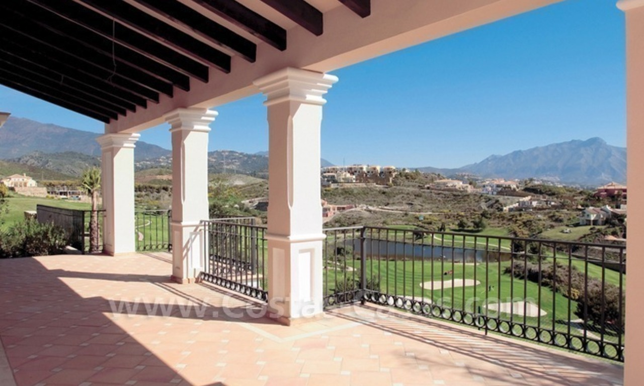 Luxury front line golf villa for sale in Marbella - Benahavis with spectacular views to the sea, golf and mountains 5