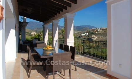 Luxury front line golf villa for sale in Marbella - Benahavis with spectacular views to the sea, golf and mountains 6