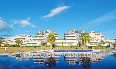 Modern luxury golf apartments with sea views for sale in the area of Marbella - Benahavis