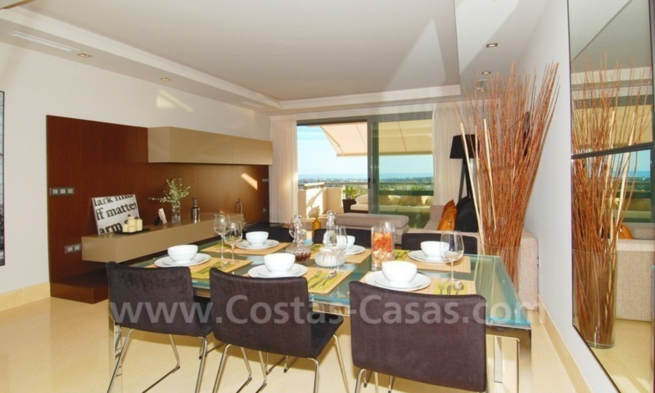New Modern luxury golf apartments for sale in the area of Marbella - Benahavis 17