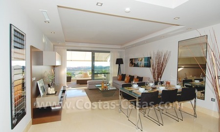 New Modern luxury golf apartments for sale in the area of Marbella - Benahavis 15