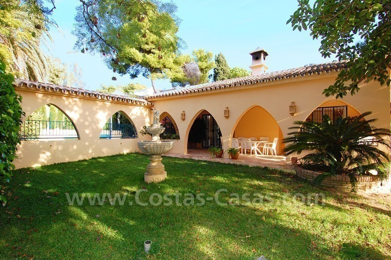 Beachside villa for sale, close to the beach, in Marbella