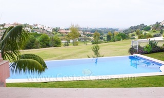 Large exclusive first line golf mansion villa for sale in Marbella – Benahavis. 1