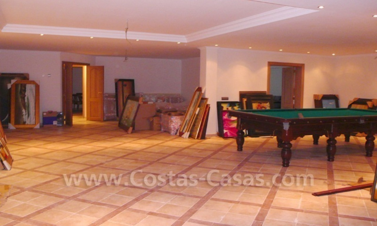 Large exclusive first line golf mansion villa for sale in Marbella – Benahavis. 28