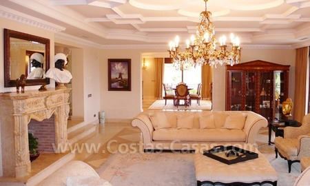Large exclusive first line golf mansion villa for sale in Marbella – Benahavis. 16
