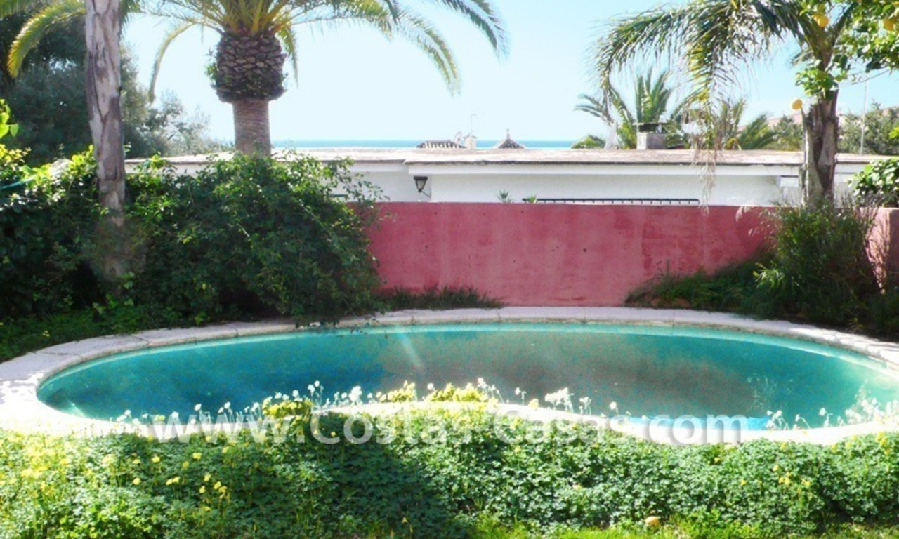 Investment villa for sale on sea side in Marbella East 4