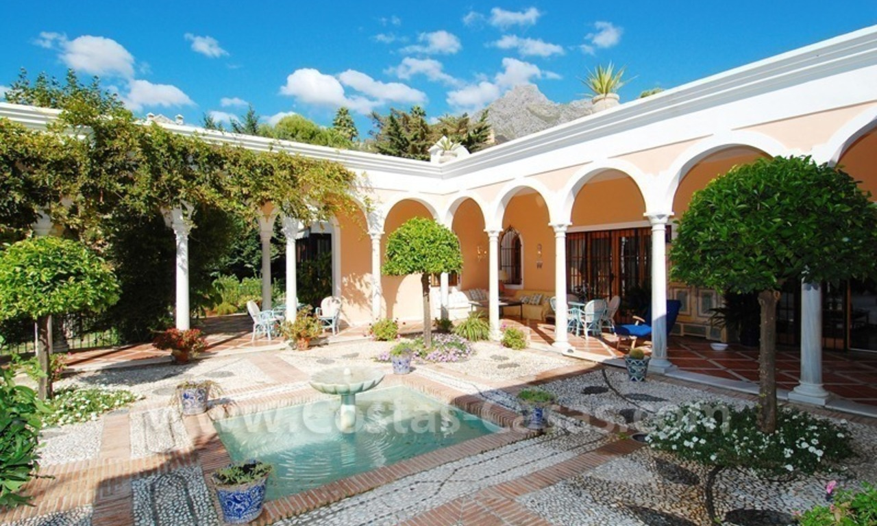 Romantic villa for sale above the Golden Mile in Marbella 2